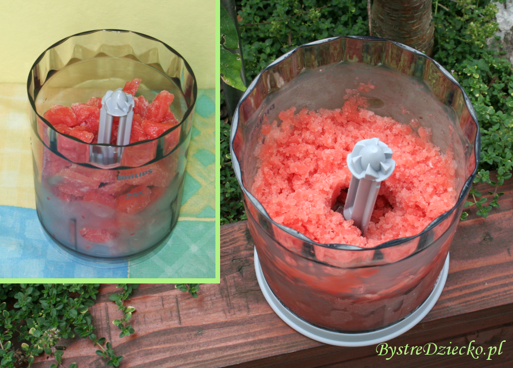 Przepis na lody arbuzowe tj. granita arbuzowa - przepisy dla dzieci