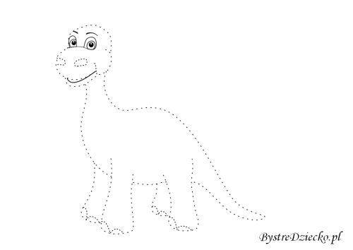 Dinosaur picture tracing worksheets for kids