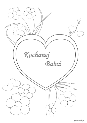 Grandparents Day coloring pages for kids, Anna Kubczak