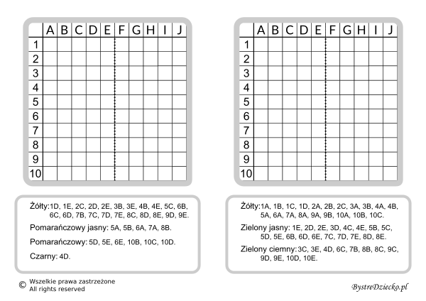 Dyktanda graficzne, nauka kodowania i programowanie dla dzieci - karty pracy do wydruku z ukrytym obrazkiem na Wielkanoc