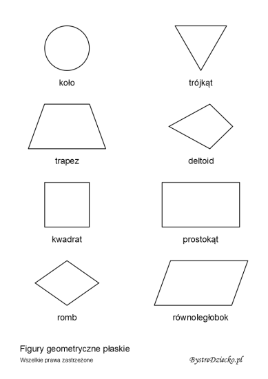 Geometric shapes for kids - math worksheets for kids
