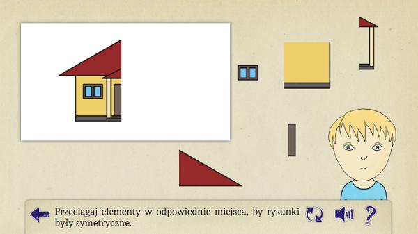 Zabawa w symetryczne obrazki