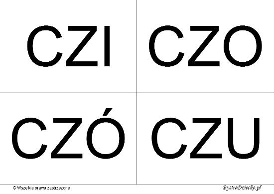 Nauka czytania dla dzieci sylabami - CZ (CZI, CZO, CZÓ, CZU)