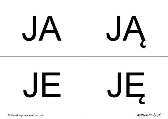 Nauka czytania dla dzieci sylabami - J (JA, JĄ, JE, JĘ)