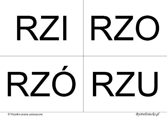 Nauka czytania dla dzieci sylabami - RZ (RZI, RZO, RZÓ, RZU)