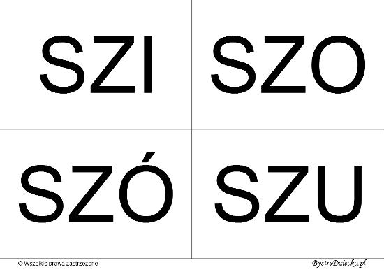 Nauka czytania dla dzieci sylabami - SZ (SZI, SZO, SZÓ, SZU)