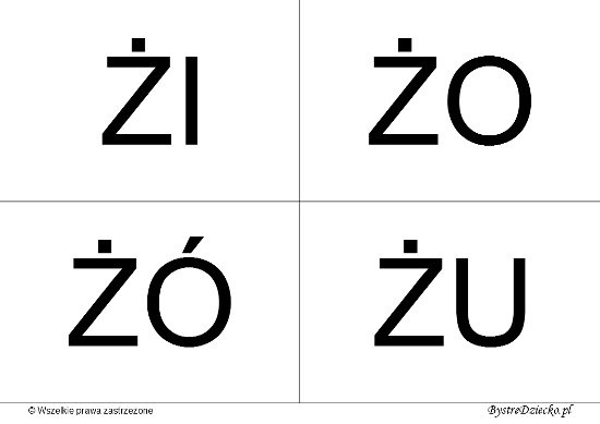 Nauka czytania dla dzieci sylabami - Ż (ŻI, ŻO, ŻÓ, ŻU)