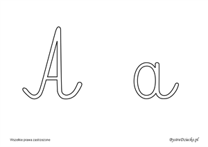 Printable cursive letters coloring pages for kids