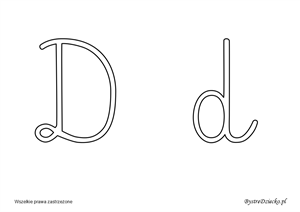 Cursive Letters Coloring Page For Kids