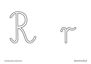 Nauka Literek Szablony Liter Alfabetu Pisanego Do Kolorowania