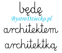 Nauka pisania dla dzieci, zawody, kiedy dorosnę będę architektem