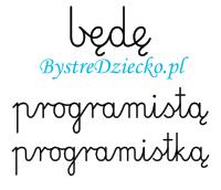 Nauka pisania dla dzieci, zawody, kiedy dorosnę będę programistą