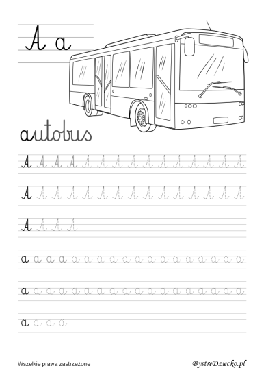 Printable cursive writing worksheets for kids, Anna Kubczak