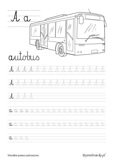 A Literki dla dzieci z kolorowankami - nauka pisania liter, Anna Kubczak