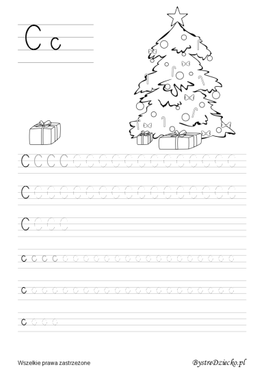 Letter C, Printable tracing letters worksheets for kids that prepare for writing, with coloring pages, Anna Kubczak