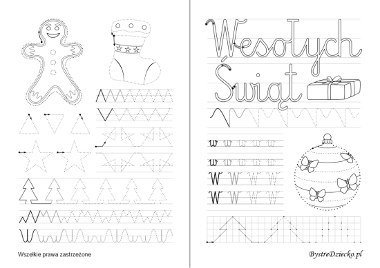 Letter W, Printable tracing worksheets for kids with tracing cursive letters, Anna Kubczak
