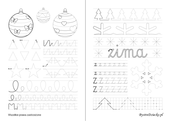 Letter Z, Printable tracing worksheets for kids with tracing cursive letters, Anna Kubczak