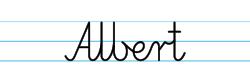 Karty pracy z imionami - nauka pisania imion dla dzieci - Albert