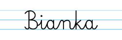 Karty pracy z imionami - nauka pisania imion dla dzieci - Bianka