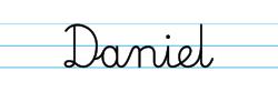 Karty pracy z imionami - nauka pisania imion dla dzieci - Daniel
