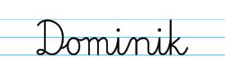 Karty pracy z imionami - nauka pisania imion dla dzieci - Dominik