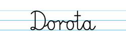 Karty pracy z imionami - nauka pisania imion dla dzieci - Dorota