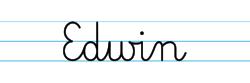 Karty pracy z imionami - nauka pisania imion dla dzieci - Edwin