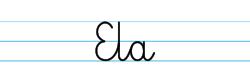 Karty pracy z imionami - nauka pisania imion dla dzieci - Ela