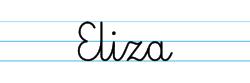 Karty pracy z imionami - nauka pisania imion dla dzieci - Eliza