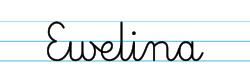 Karty pracy z imionami - nauka pisania imion dla dzieci - Ewelina