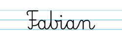 Karty pracy z imionami - nauka pisania imion dla dzieci - Fabian