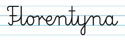 Karty pracy z imionami - nauka pisania imion dla dzieci - Florentyna