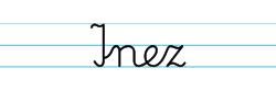Karty pracy z imionami - nauka pisania imion dla dzieci - Inez