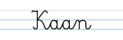 Karty pracy z imionami - nauka pisania imion dla dzieci - Kaan