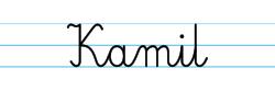 Karty pracy z imionami - nauka pisania imion dla dzieci - Kamil
