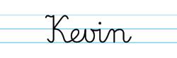 Karty pracy z imionami - nauka pisania imion dla dzieci - Kevin