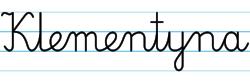 Karty pracy z imionami - nauka pisania imion dla dzieci - Klementyna