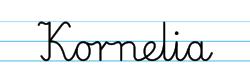 Karty pracy z imionami - nauka pisania imion dla dzieci - Kornelia