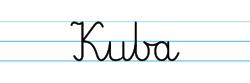 Karty pracy z imionami - nauka pisania imion dla dzieci - Kuba
