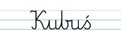 Karty pracy z imionami - nauka pisania imion dla dzieci - Kubuś