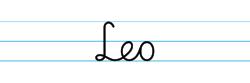 Karty pracy z imionami - nauka pisania imion dla dzieci - Leo