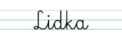 Karty pracy z imionami - nauka pisania imion dla dzieci - Lidka