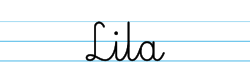 Karty pracy z imionami - nauka pisania imion dla dzieci - Lila