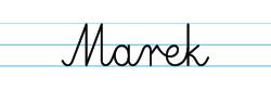 Karty pracy z imionami - nauka pisania imion dla dzieci - Marek