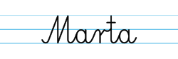 Karty pracy z imionami - nauka pisania imion dla dzieci - Marta