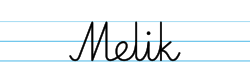 Karty pracy z imionami - nauka pisania imion dla dzieci - Melik