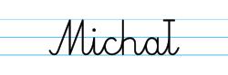 Karty pracy z imionami - nauka pisania imion dla dzieci - Michał