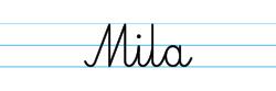 Karty pracy z imionami - nauka pisania imion dla dzieci - Mila