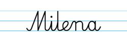 Karty pracy z imionami - nauka pisania imion dla dzieci - Milena