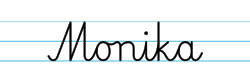 Karty pracy z imionami - nauka pisania imion dla dzieci - Monika